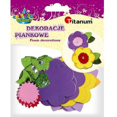 Titanum Kwiaty piankowe, kreatywny zestaw, 6szt, craft-fun (5907437678893)
