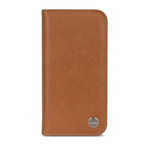 Moshi Overture - Etui iPhone X z kieszeniami na karty + stand up (Caramel Brown), 99MO101751