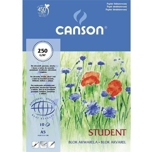 Canson Blok akwarela a4 papier fakturowany 10 kartek student
