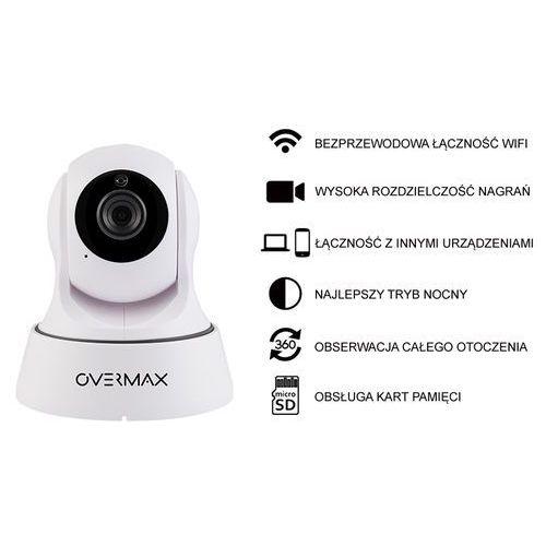 KAMERA IP OVERMAX CAMSPOT 3.3 WHITE HD 720p WI-FI IR SD P2P, Overmax Camspot 3.3