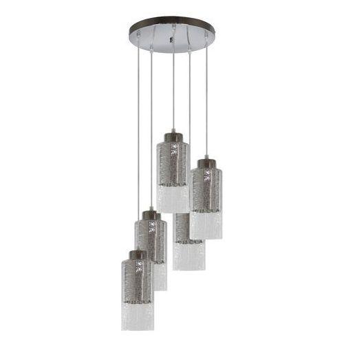 Lampa wisząca zwis żyrandol Candellux Libano okrągły 5x60W E27 srebrna 35-51813, kolor Srebrny