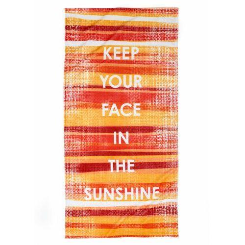 Ręcznik plażowy z napisem kolorowy marki Bonprix
