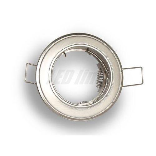 Oprawa halogenowa sufitowa okrągła stała, odlew stopu aluminium- satyna marki Led line