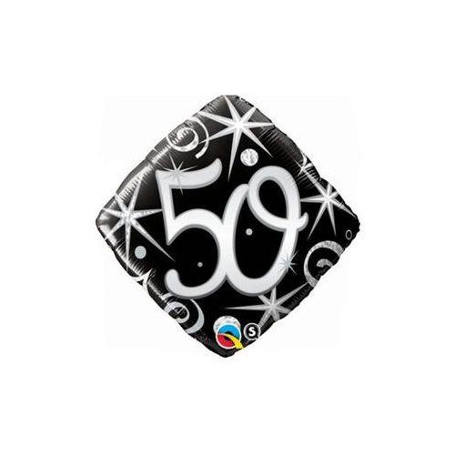 Go Balon foliowy na 50 urodziny czarny - 46 cm