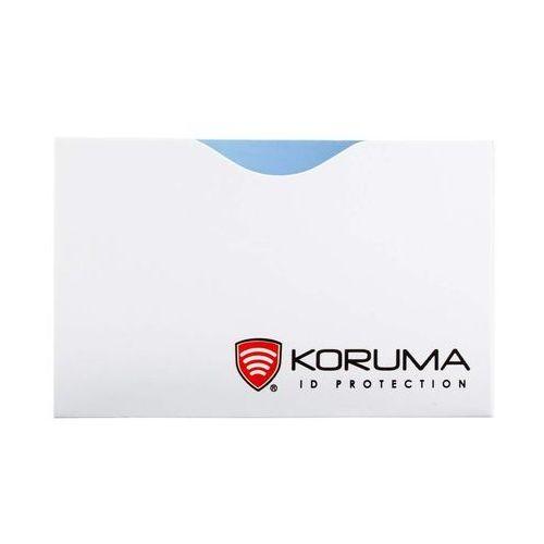 Koruma ✅ etui rfid na zbliżeniowe karty bankomatowe kredytowe debetowe - poziome (białe)