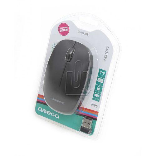 Mysz optyczna Omega Wireless 2,4GHz 1000dpi czarna - OKAZJE