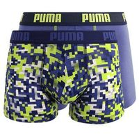 Puma blocking print boxer seasonal 2 pack panty blue/lime