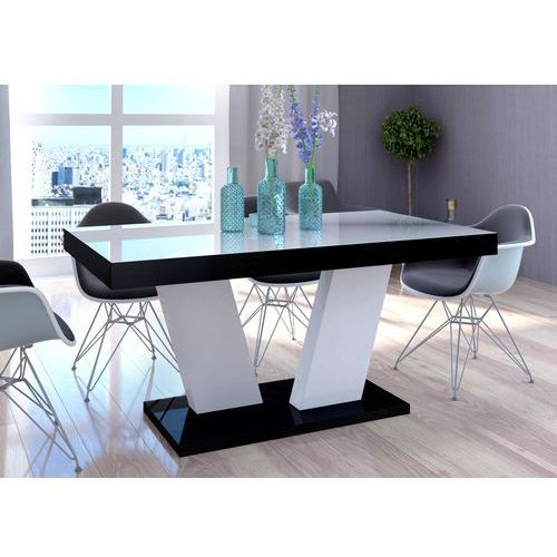 Stół rozkładany vega luk 160-260 cm z blatem białym marki Mato design