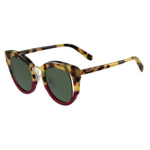 Okulary Słoneczne Salvatore Ferragamo SF 830S 283, kolor żółty