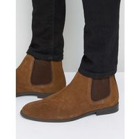 Ben sherman chelsea boots in tan suede - tan
