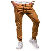 Athletic Spodnie joggery bojówki męskie camelowe denley 0404gbr