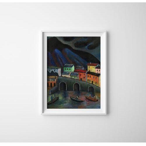 Plakat w stylu retro Plakat w stylu retro Nocne wędkowanie w Asconie Marianne von Werefkin