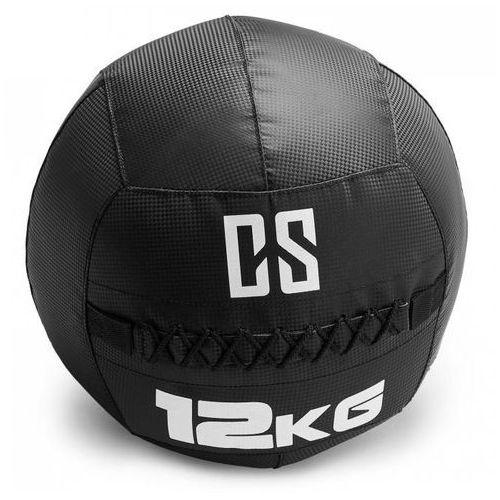 Bravor piłka lekarska wall ball pcv podwójne szwy 12kg czarna marki Capital sports