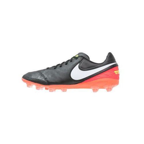 Nike Performance TIEMPO LEGACY II AGPRO Korki Lanki black/white/hyper orange/volt