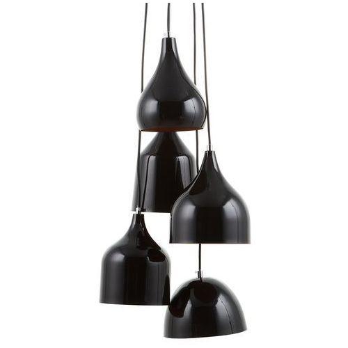 Beliani Lampa wisząca czarna 5 kloszy savio (4260586355871)