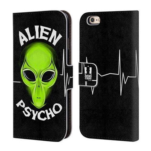 Etui portfel na telefon - Alien Emoji Black Psycho, kolor czarny