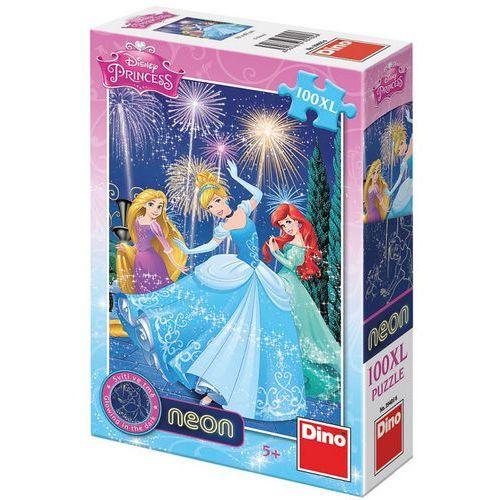 Puzzle 100 XL Neon Księżniczki DINO, AM_8590878394056