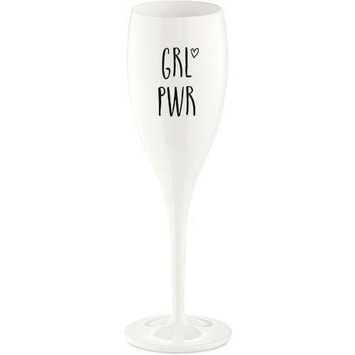 Koziol Kieliszek do szampana cheers z napisem grl pwr