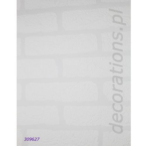 Tapeta biała cegła mur aqua relief 2014 309627 marki Rasch