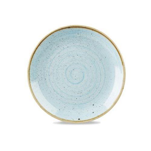 Talerz płytki okrągły 260 mm, niebieski   CHURCHILL, Stonecast Duck Egg Blue