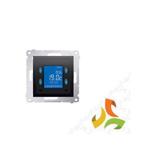 Simon kontakt Termostat elektroniczny antracyt, z programatorem i wyświetlaczem oraz z wewnętrznym czujnikiem temperatury d75817.01/48 simon 54 premium