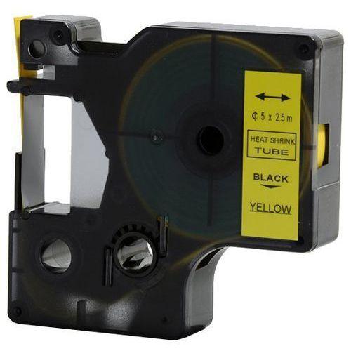 Rurka (koszulka) termokurczliwa zamiennik do dymo, średnica 5mm, szer. wydruku 9mm, dł. 2.5m, żółta, czarny nadruk rs5y marki Aimotech