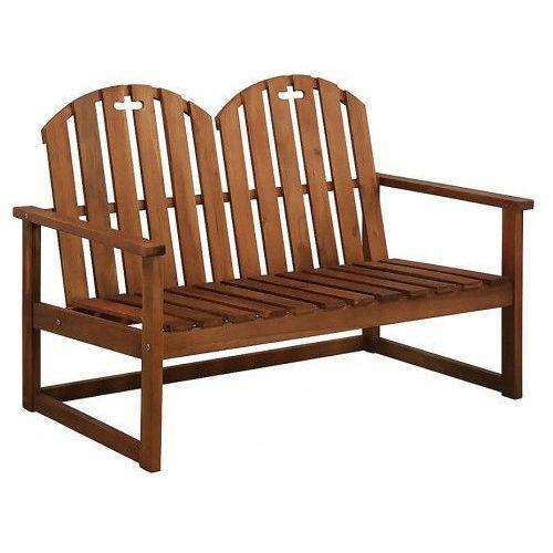 Drewniana ławka ogrodowa manus - brązowa marki Producent: elior