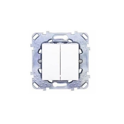 Schneider unica plus łącznik podwój.schodowy - biel polarna mgu50.213.18z