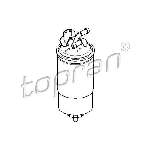Filtr paliwa TOPRAN 110 766