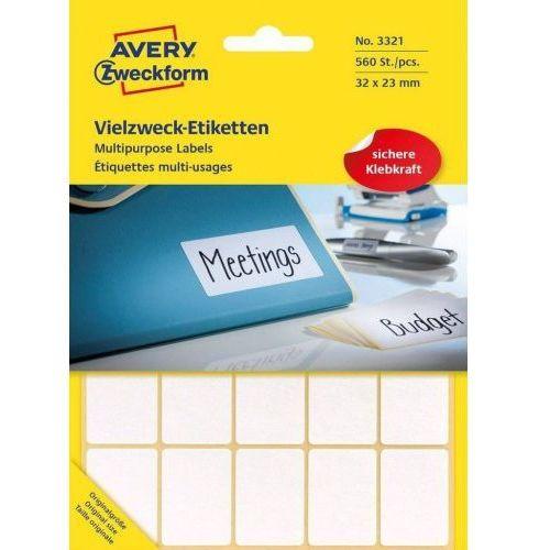 Avery zweckform Mini etykiety w arkuszach do opisywania ręcznego, 32 x 23mm, białe, 560 sztuk, 1_676480