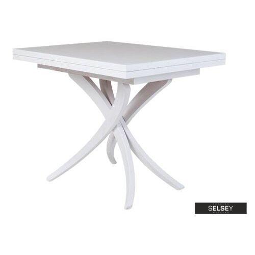 stół rozkładany spider 3w1 70-140x100 cm biały marki Selsey