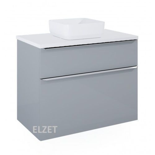 ELITA szafka Lofty 90 light grey pod umywalkę nablatową + blat 90 white 167278+167035, 167278.167035