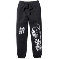 Spodnie dresowe bonprix czarny, bawełna