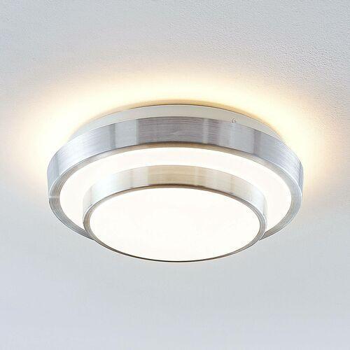 naima lampa sufitowa led alu okrągła 29,5cm marki Lindby