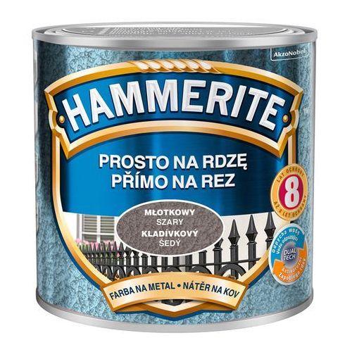 Hammerite Farba prosto na rdzę - efekt młotkowy szary 0,25l