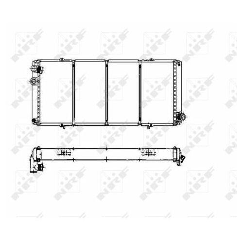 Chłodnica, układ chłodzenia silnika NRF 507114 (8718042045782)