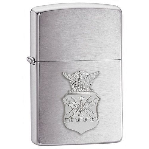 Zapalniczka Zippo Air Force Crest Emblem, Brushed Chrome