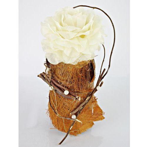 Kwiat lotosu Ozdobne opakowanie na butelkę kremowa róża
