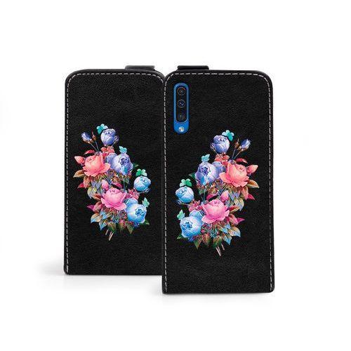 Samsung Galaxy A50 - etui na telefon Flip Fantastic - bukiet róż, kolor różowy
