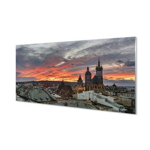 Obrazy akrylowe Kraków Zachód słońca panorama