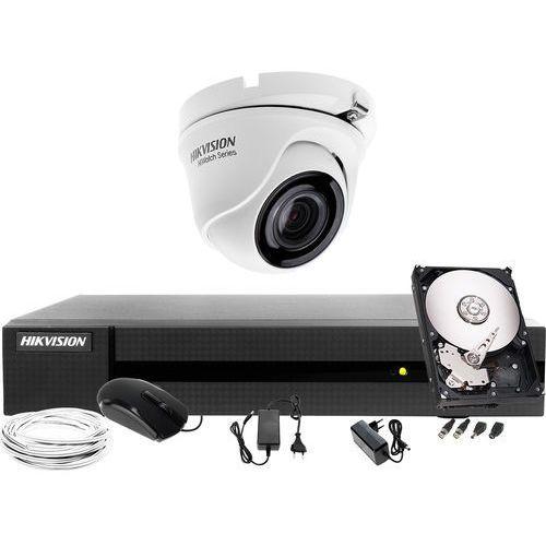 HWT-T123-M Zestaw do monitoringu Hikvision Hiwatch HWD-6104MH-G2, 1 x HWT-B123-M, 1TB, Akcesoria