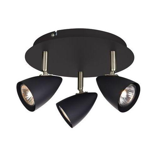 Plafon LAMPA sufitowa CIRO 107411 Markslojd okrągła OPRAWA metalowa reflektorki czarne
