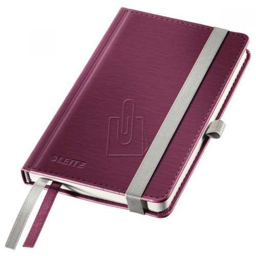 Notatnik Leitz Style A6 80 kratka twarda oprawa bordo 44910028 (4002432107070)