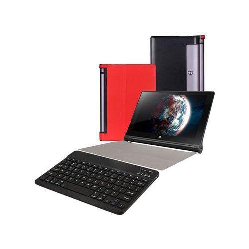 Etui smart cover Lenovo Yoga Tab 3 10 X50 czerwone +klawiatura - Czerwony, kolor czerwony