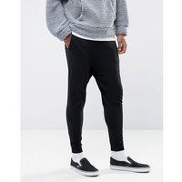 ASOS Drop Crotch Joggers In Lightweight Jersey - Black, w 6 rozmiarach