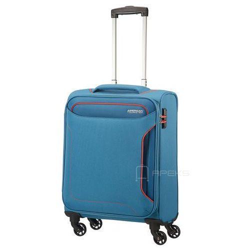 holiday heat mała walizka kabinowa 20/55 cm / niebieska - denim blue marki American tourister