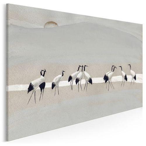 Vaku-dsgn Bractwo żurawi - nowoczesny obraz na płótnie