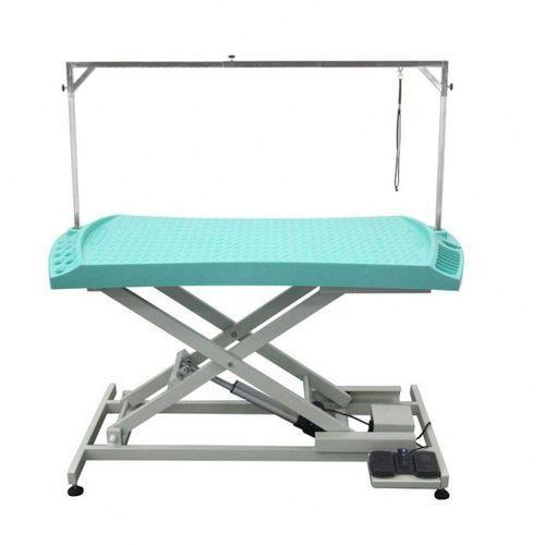 Shernbao Stół z podnośnikiem elektrycznym, blat 130x61 cm z przegródkami na narzędzia, regulacja wys. 28x93cm