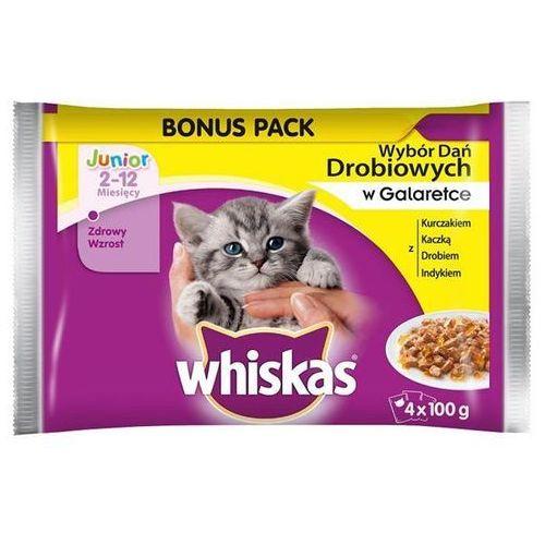 junior wybór dań drobiowych w galaretce - saszetka 3x(4x100g) marki Whiskas