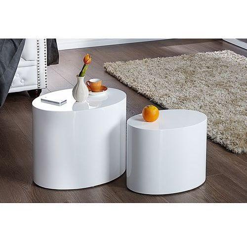 Zestaw stolików DIVISION białe - MDF BT34WE/BWD1-1 - King Home - Sprawdź kupon rabatowy w koszyku, BT34WE/BWD1-1 (10386746)